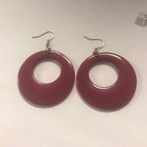 Jewelry - Maroon earrings
